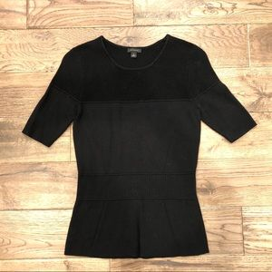 Ann Taylor S Black 3/4 Sleeve Sweater Blouse Top
